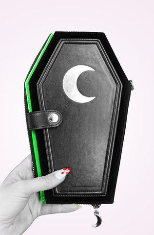 Death Candy *Oversized* Coffin Wallet GREEN
