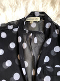 Black-and-white polkadot longsleeve shirt