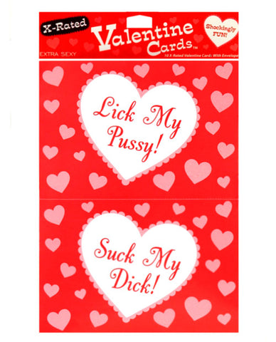 10 X-rated Valentine Cards W-envelopes