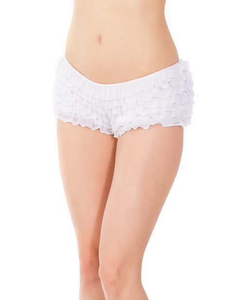 Ruffle Shorts W-back Bow Detai White O-s