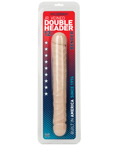 "Dongs & Dildos - iKandy's Euphoria, LLC, 12"" Jr. Double Header Bender - White - iKandy's Euphoria, LLC, iKandy's Euphoria, LLC - iKandy's Euphoria, LLC, Doc Johnson - iKandy's Euphoria, LLC"