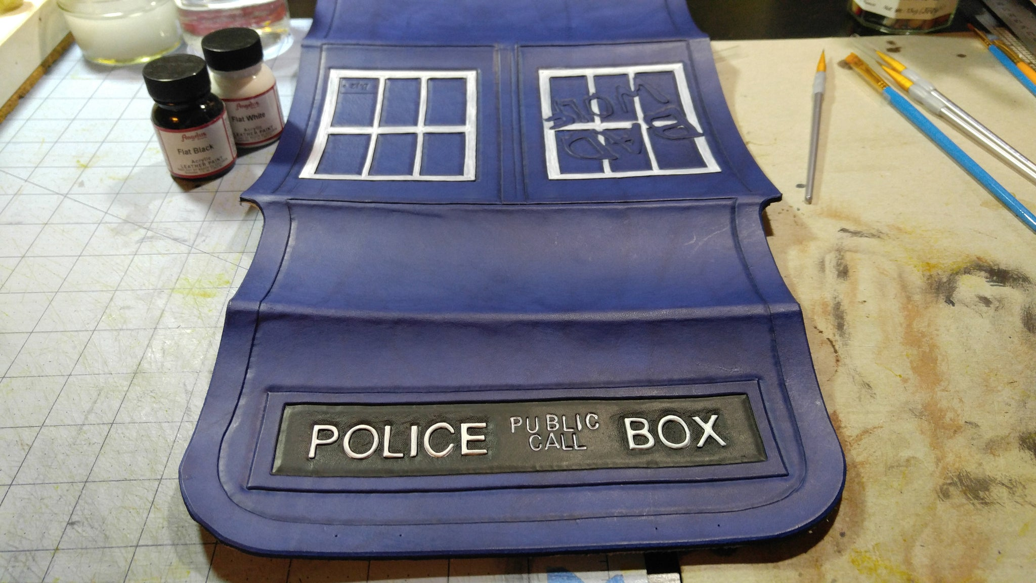 Whovian shoulder bag WIP