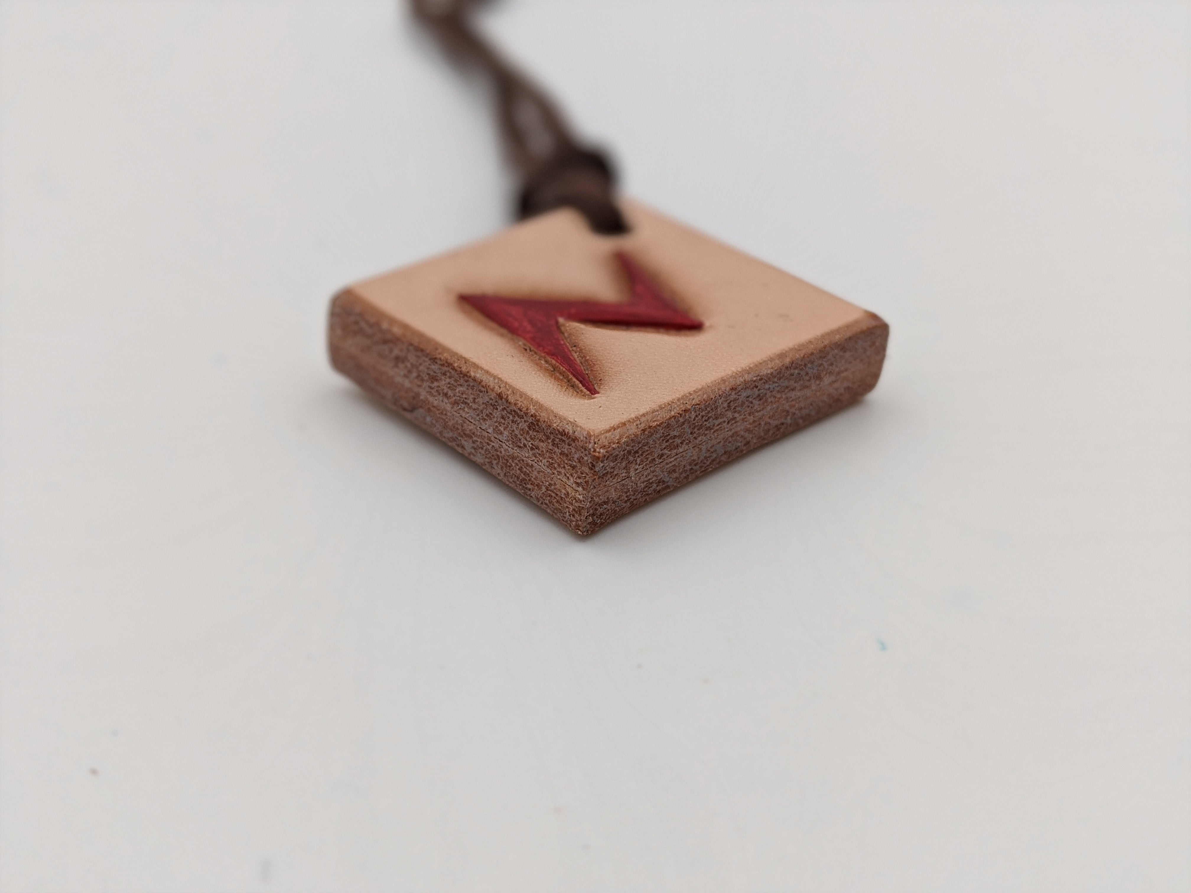 Leather Harry Potter inspired pendant