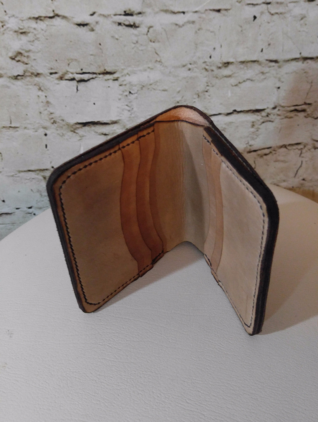 Bi-fold wallet - Dark Brown Made to Order