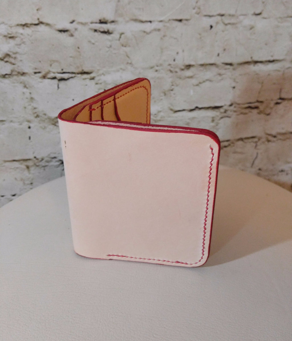 Bi-fold wallet - Natural Made to Order