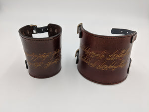 Leather bracers, cuff bracelets, vambraces - Lord of the Rings inspired designs
