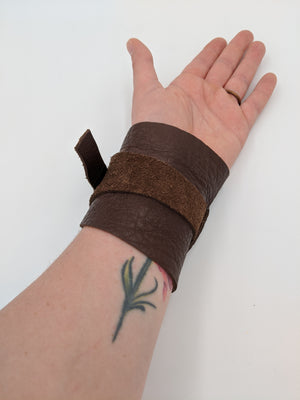 Leather bracer, vambrace, Star Wars inspired Rey's bracer