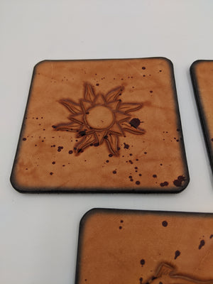 Leather coasters inspired by Game of Thrones, set of 4 home accessory