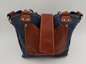 Leather tote bag multi-strap option