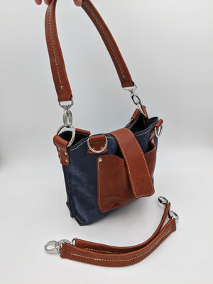 Leather tote bag multi-strap option - Made To Order