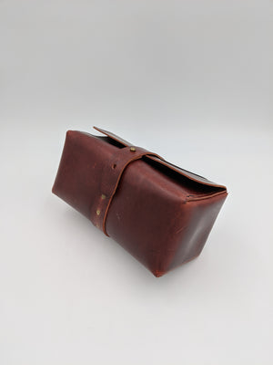 Leather dopp kit, shaving kit, travel kit