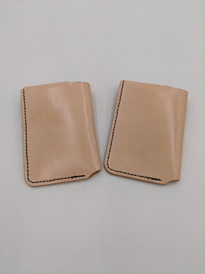 Handmade leather minimalist wallet, slip wallet, card holder with Marvin, Hitchhiker's Guide