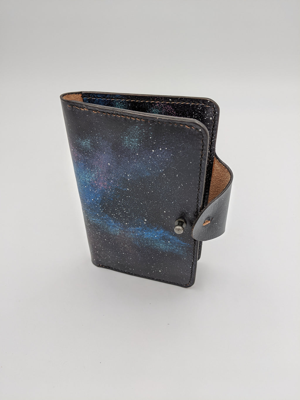 Handmade leather passport cover, travel wallet, field notes cover Guardians of the Galaxy