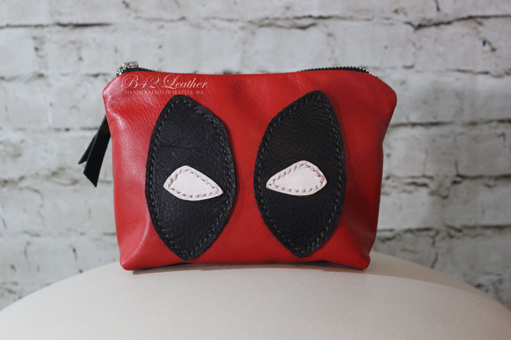 Zipper pouch Deadpool lined - Made to Order