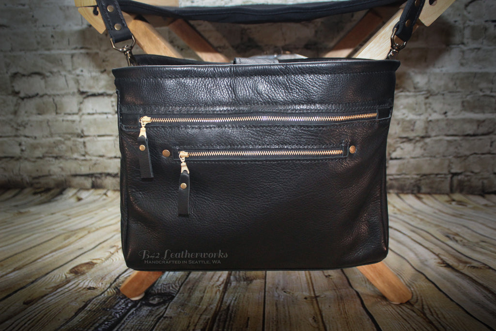 Zippered satchel bag - Made To Order