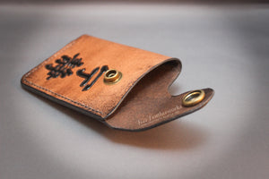 Snap wallet with clip - MADE TO ORDER