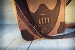 Leather satchel, book bag, messenger bag, Hannibal Lecter, Silence of the lambs inspired