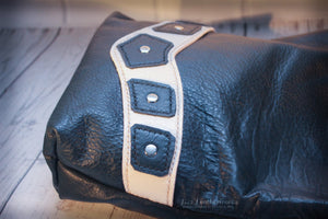 Leather book bag, satchel bag, Star Wars Princess Leia inspired design - Made to Order