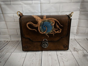 Steampunk leather bag