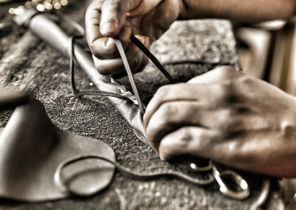 Hand stitched bags and belts
