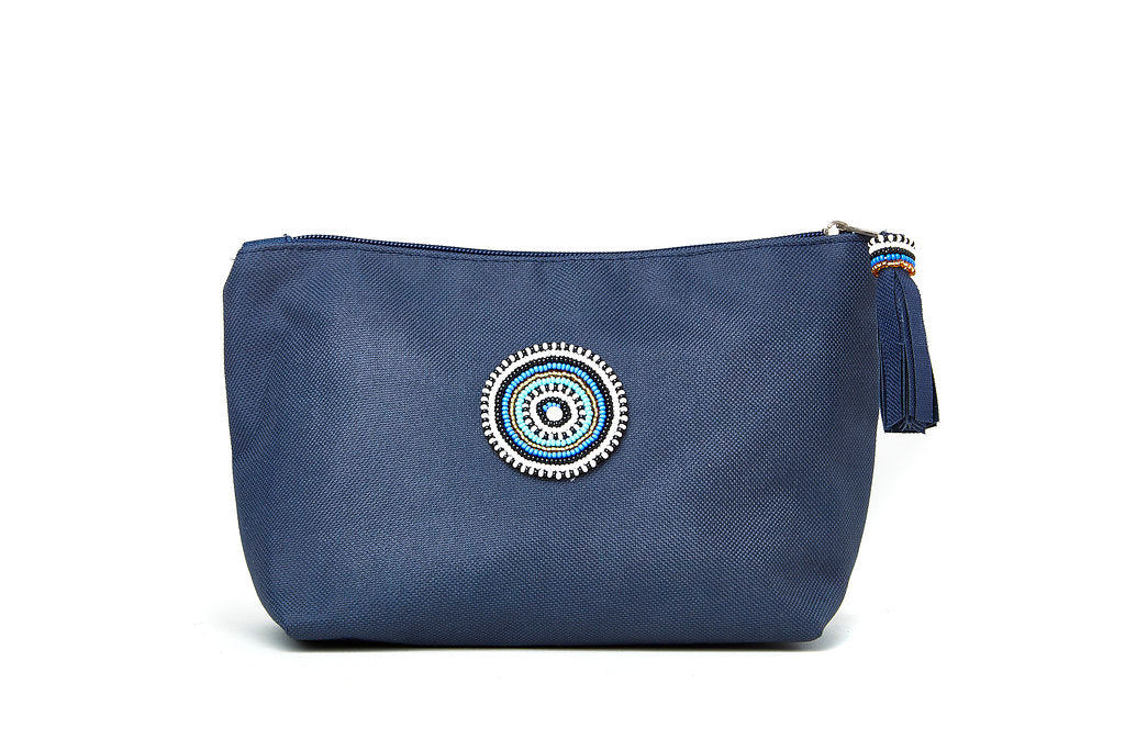Large Makeup Bag - Navy