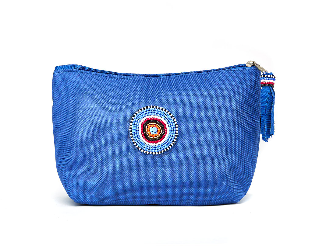 Large Makeup Bag - blue