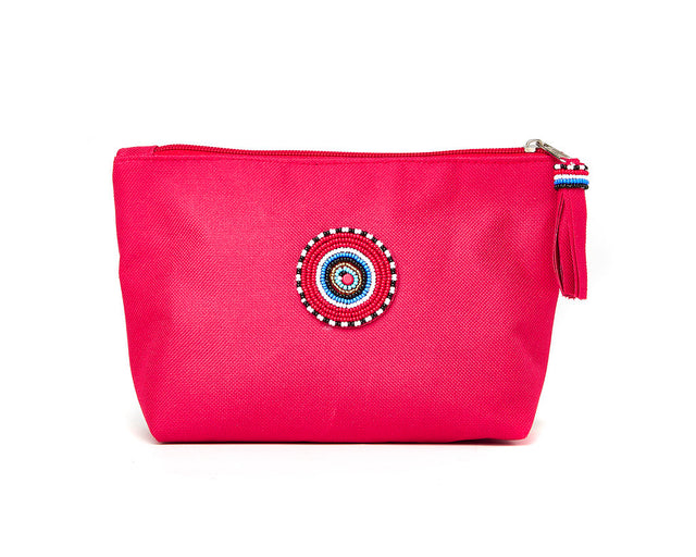 Large Makeup Bag - red