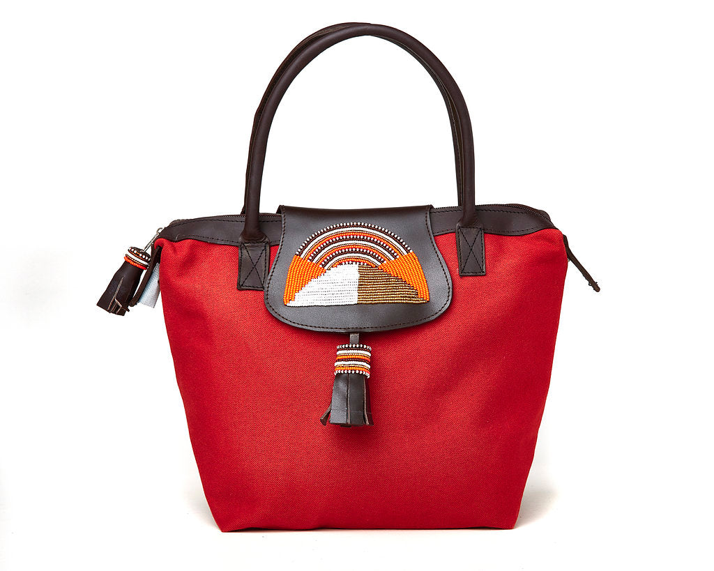 Handbag - burnt orange