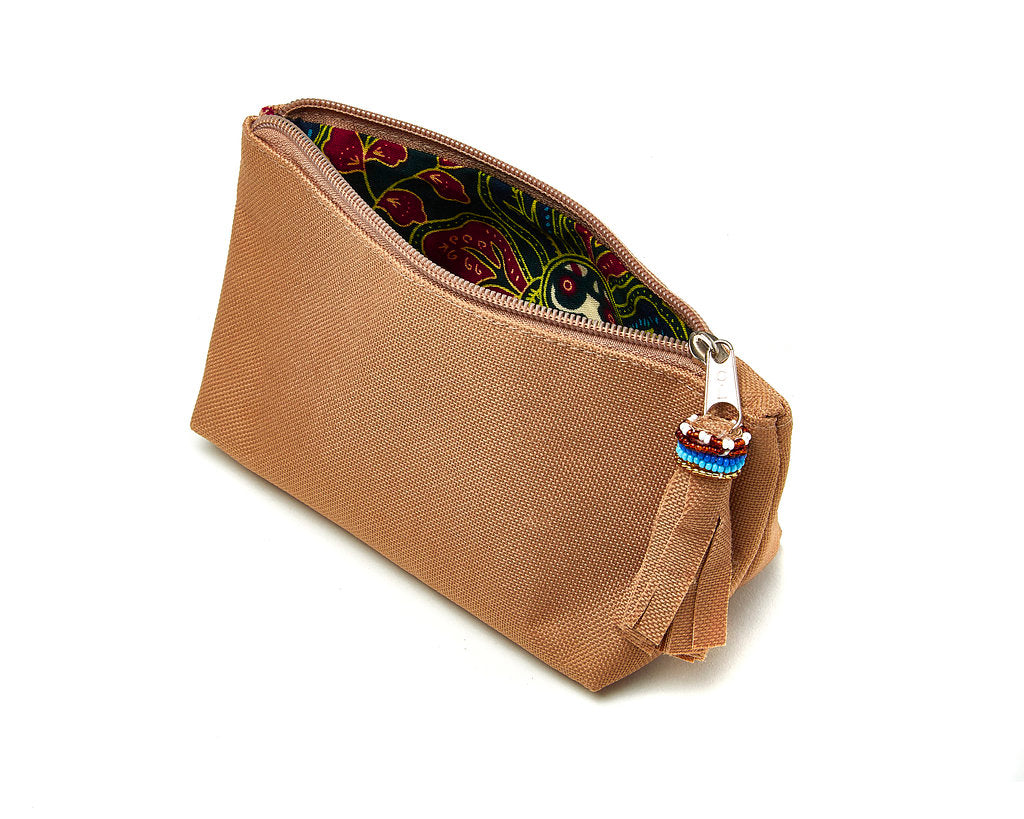 Small Makeup Bag - camel