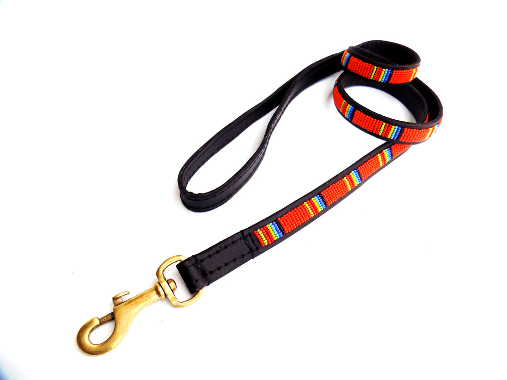 Dog Lead - giriama orange