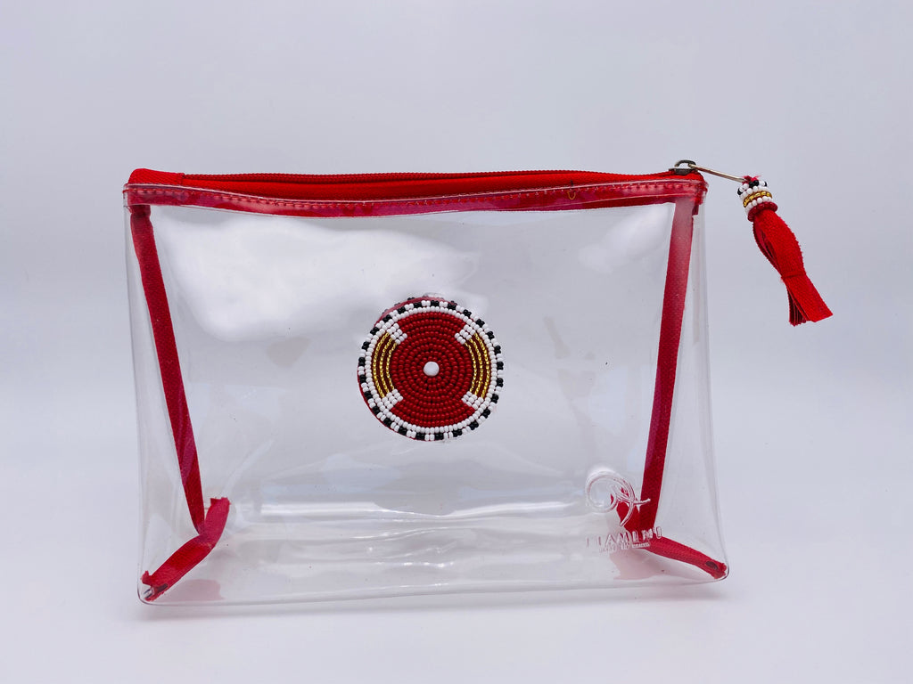 Clear Trapeze Wash and Makeup Bags