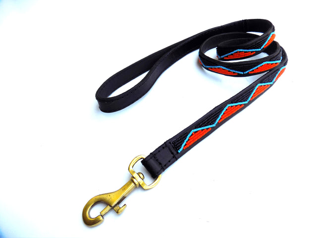 Dog Lead - maasai black