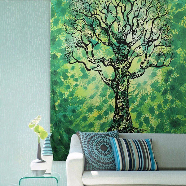 Green Forest Tapestry