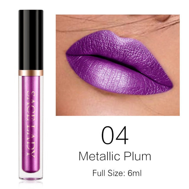 Metallic Plum -Waterproof Liquid Lipstick