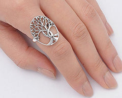 925 Sterling Silver Tree Of Life Ring