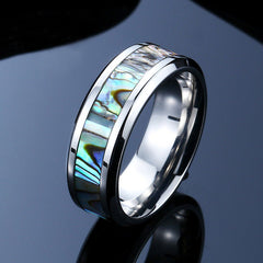 abalone shell ring for men