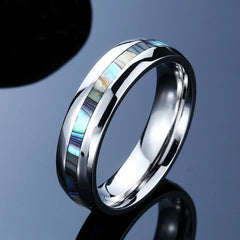 Abalone shell ring for women