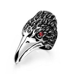 stainless steel eagle ring