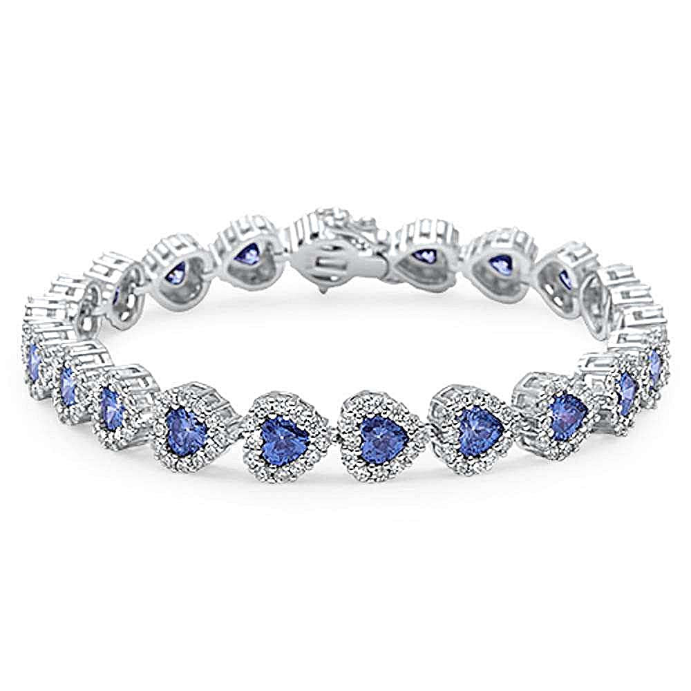 Sterling silver bracelet for women blue