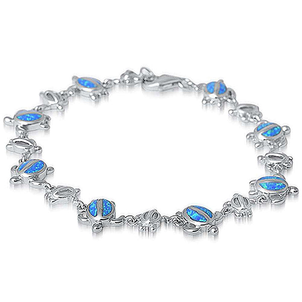 Sterling silver baby turtle bracelet for women