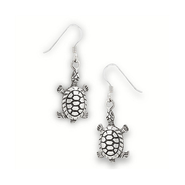Sterling Silver Baby Turtle Earrings