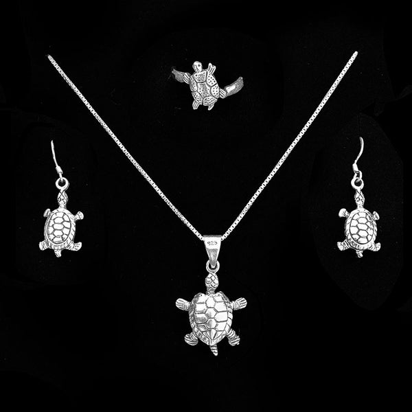Sterling Silver Turtle Set
