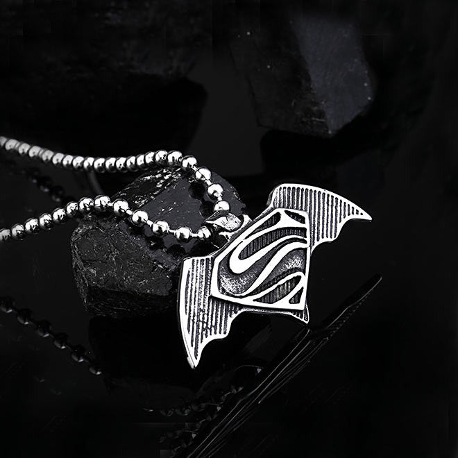 Stainless steel batman and superman pendant mozeypictures Gallery