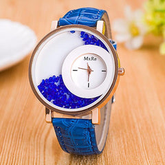 Rhinestone Watch Blue