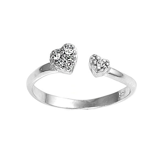 Sterling Silver Toe Ring Heart