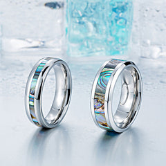 Abalone shell ring for couples
