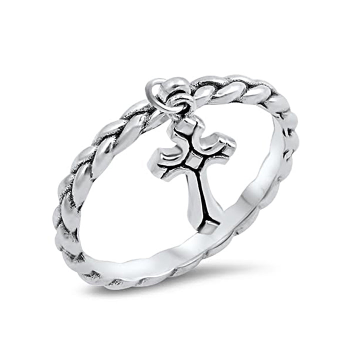Sterling silver cross ring for kids and women