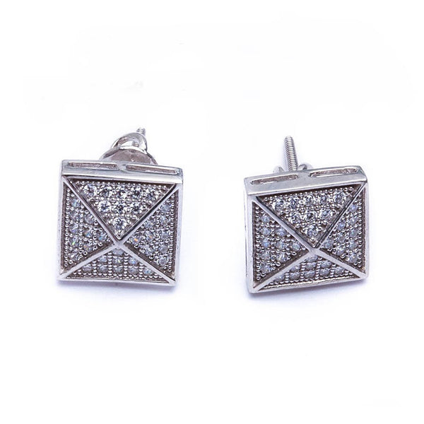 Sterling silver CZ studs for men