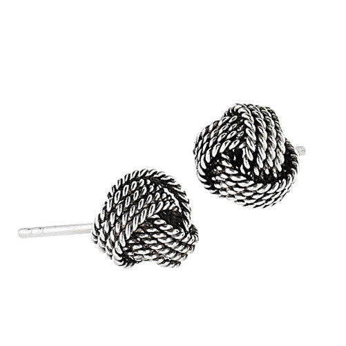 Sterling silver rope earrings for men and women