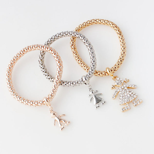 Mom and Kids Charm Bracelet
